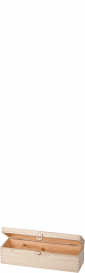 Holzkassette 1x 75 cl mit Scharnier Naturfarben