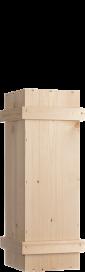 Holzkiste 1x 150 cl mit Schiebedeckel, Leisten