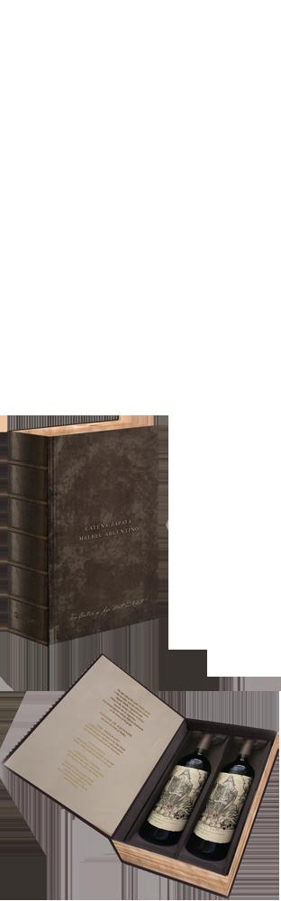 2017 Malbec Argentino Mendoza Gift Box Book 2x 75 cl Bodega Catena Zapata 1500.00