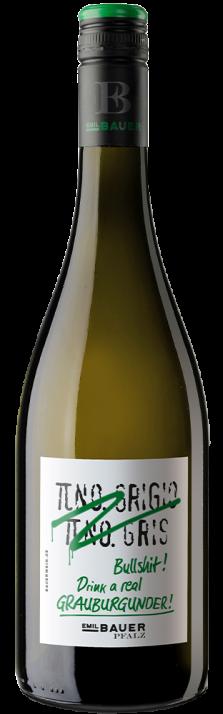 2020 Grauburgunder Pfalz trocken Pinot Grigio Pinot Gris Bullshit! Drink a real Grauburgunder! Weinhaus Emil Bauer 750.00